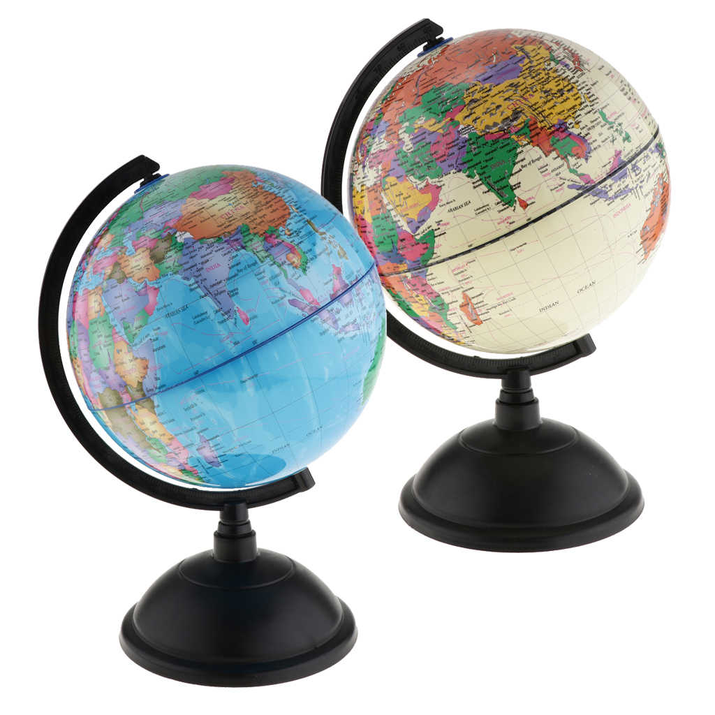 Globe Globe of The World in Cash Coin Bank Box of School Money Educational Teaching Kits Decorative Children Leaning Toys,White