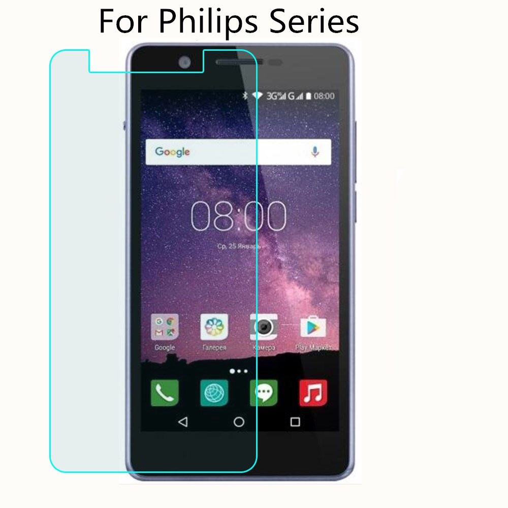 2.5D 9H Tempered Glass For <font><b>Philips</b></font> S318 <font><b>S326</b></font> S327 Xenium S386 X588 V377 V526 Tempered Glass <font><b>Screen</b></font> Protector image