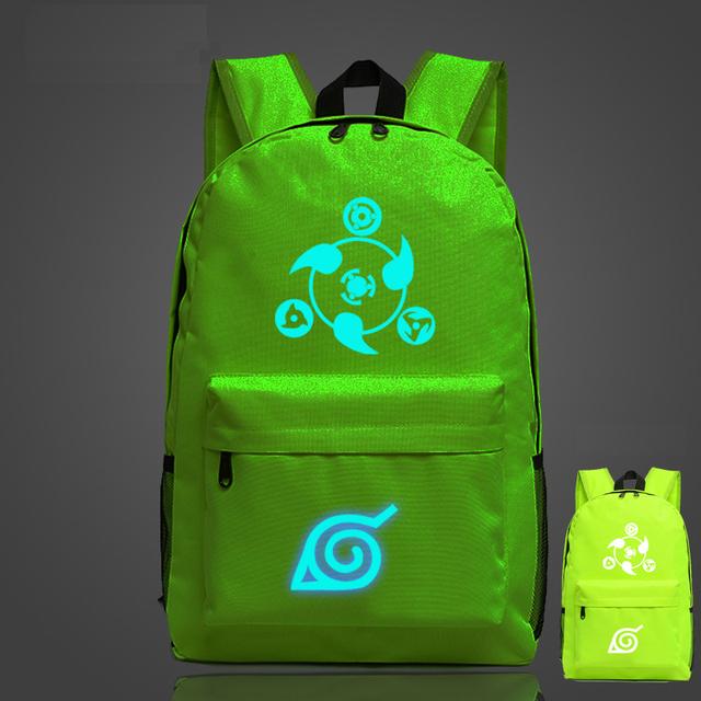 Naruto Luminous Canvas Travel Laptop Bag