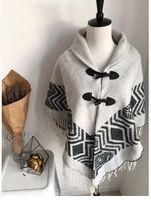 Fashion New Winter Plain Thick Wool Blend Tassel Aztec Batwing Poncho Lattice Oversize Lady Cape Shawls Free shipping