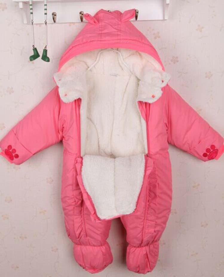 Autumn & Winter Newborn Infant Baby Clothes Fleece Animal Style Clothing Romper Baby Clothes Cotton-padded Overalls CL0437 (17)