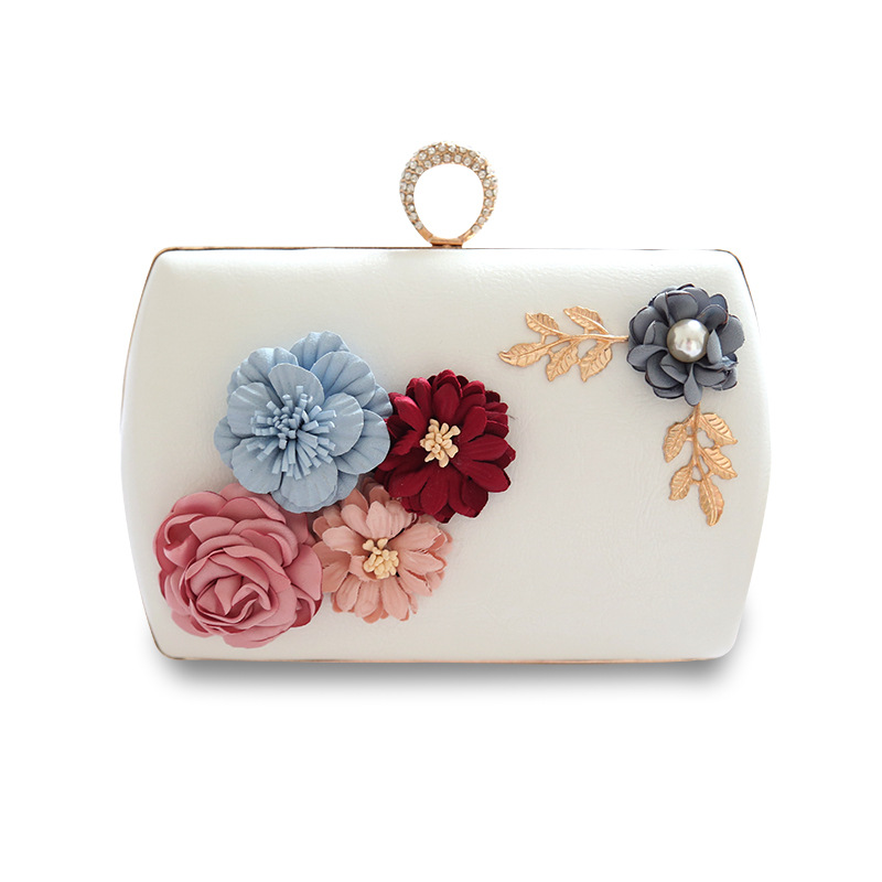 Mrs win high quality luxury handmade flowers evening bags brand dinner clutch purse with chain flower banquet bags YHB131-132 mrs dalloway