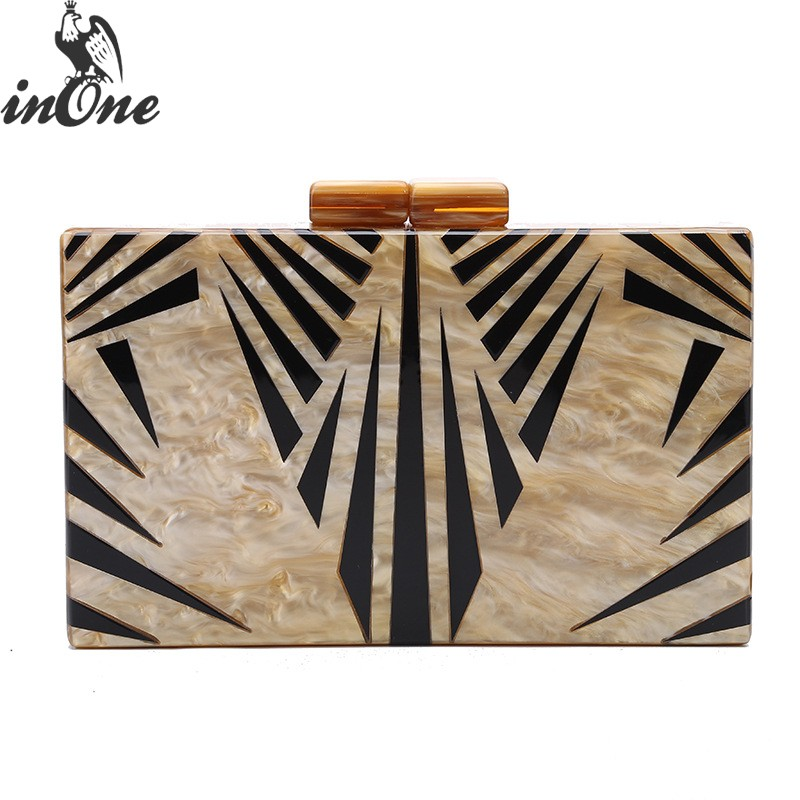 INONE Clutch Evening Crossbody Bags for Women 2019 Party Bolsa Feminina Chain Shoulder Bag Ladies Fashion
