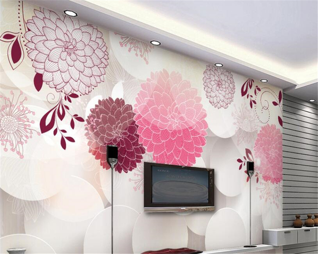 beibehang Classic aesthetic fantasy interior wallpaper flowers ...