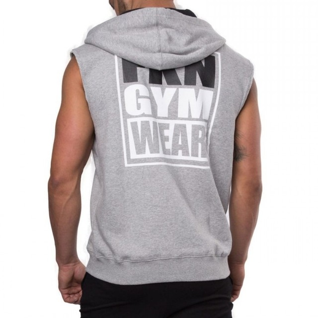 979910631d4 2018 Fitness Men Bodybuilding Sleeveless Muscle Hoodies Workout Clothes Casual  Cotton Tops Hooded