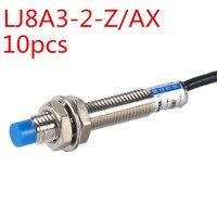 10pcs M8 2mm sensing DC 5V NPN NC LJ8A3 2 Z/AX 5V cylinder inductive proximity sensor switch