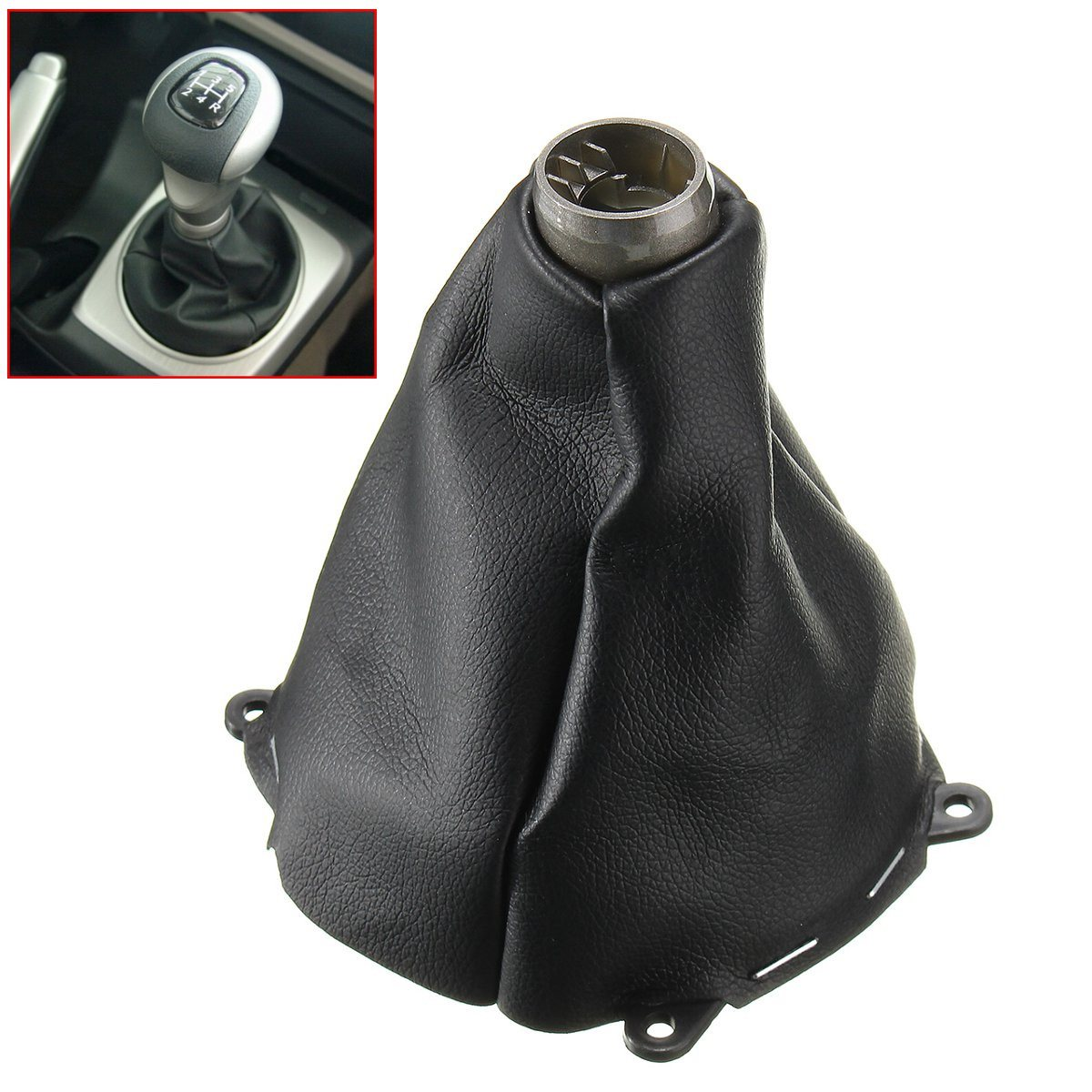 Car Manual Leather Gear Gaiter Shift Shifter Boot For Honda for Civic Si  2006 2007 2008 2009 2010 2011 Black Gear Shift Collars-in Gear Shift  Collars from ...