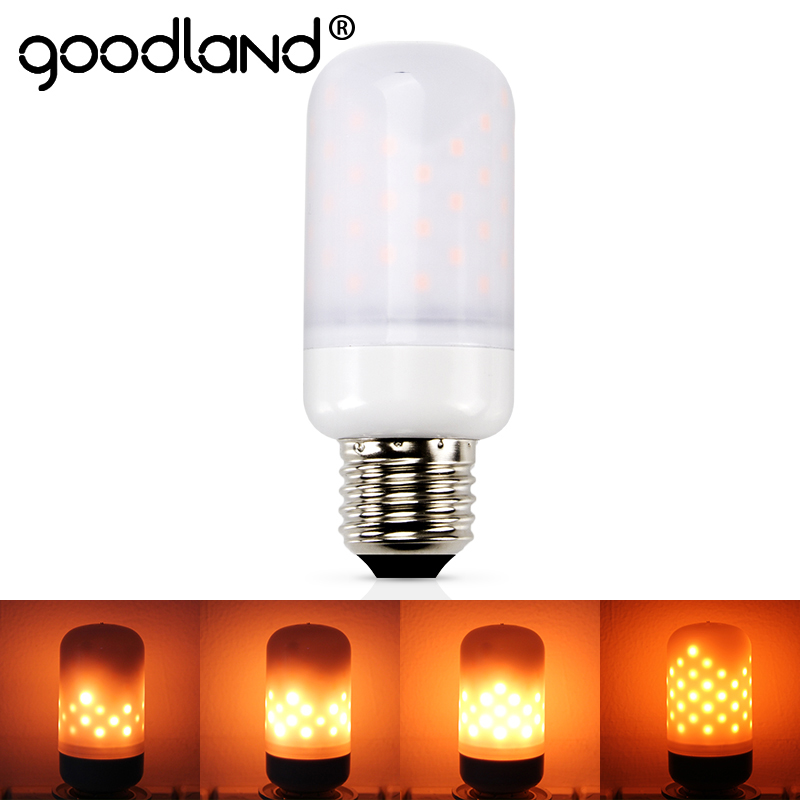 Goodland Led Flame Lamps E27 E26 E14 110V 220V Flickering Emulation Fire Light Effect Bulb 5W Vintage Atmosphere Decorative Lamp