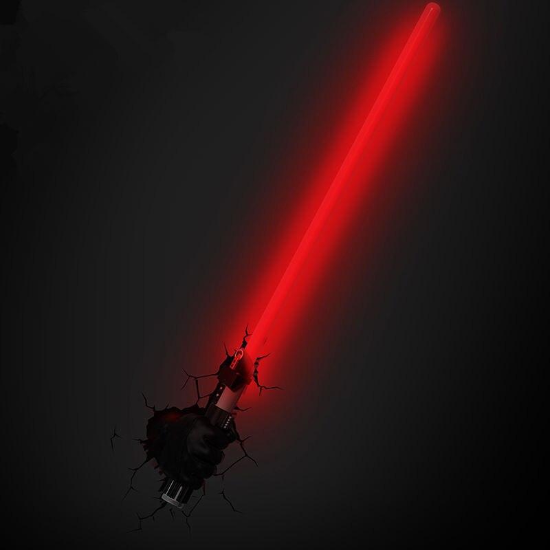 [TOP] Creative star wars sabre laser Light Saber modèle de figure 3D lampe murale Unique lumière led épée lampe Accueil chambre décorations cadeau