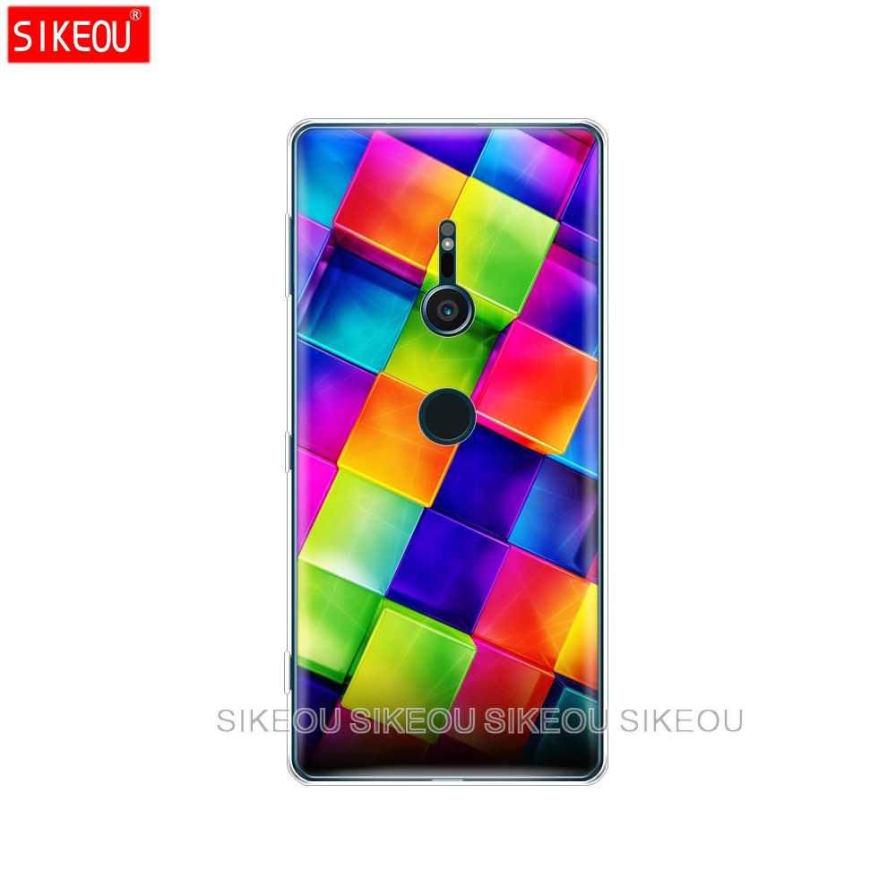 Silicon Che phone Case cho sony xperia XA1 XA2 CỰC CỘNG VỚI L1 L2 XZ1 XZ2 nhỏ gọn XZ CAO CẤP Hình Học Hình Học mô hình đầy màu sắc
