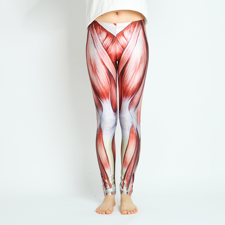 online shop free shipping muscles leggings printed cool leggings, Muscles