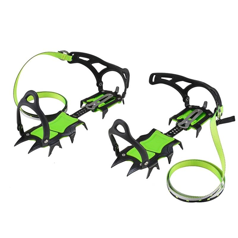 Outdoor Fourteen Teeth Bundled Crampon Ice Gripper Hiking Climbing Equipment BRS - S1A B Ultra-light Anti-crystallization 1 Pair
