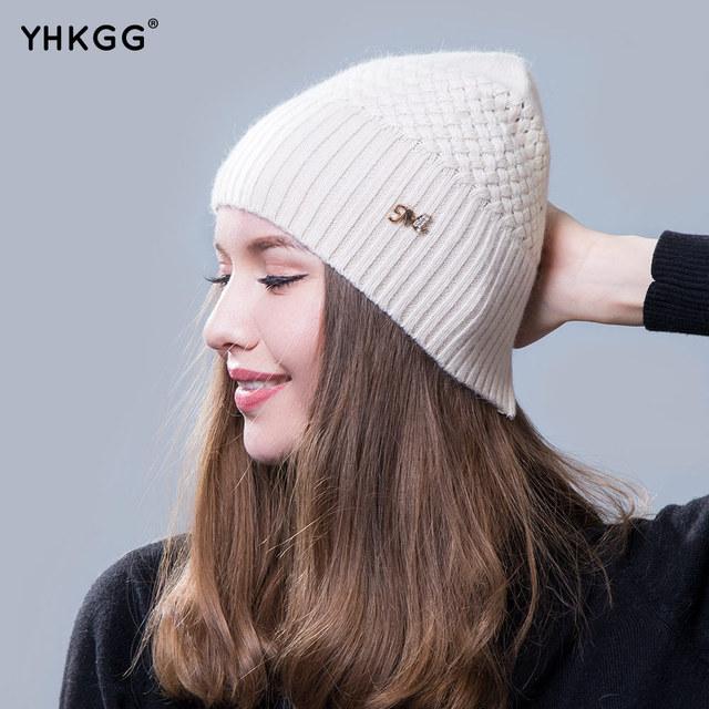 2016 nova Ladies beanie chapéus Ms inverno quente chapéu de lã chapéu de tricô de lã chapéus gorros gorros mulheres inverno