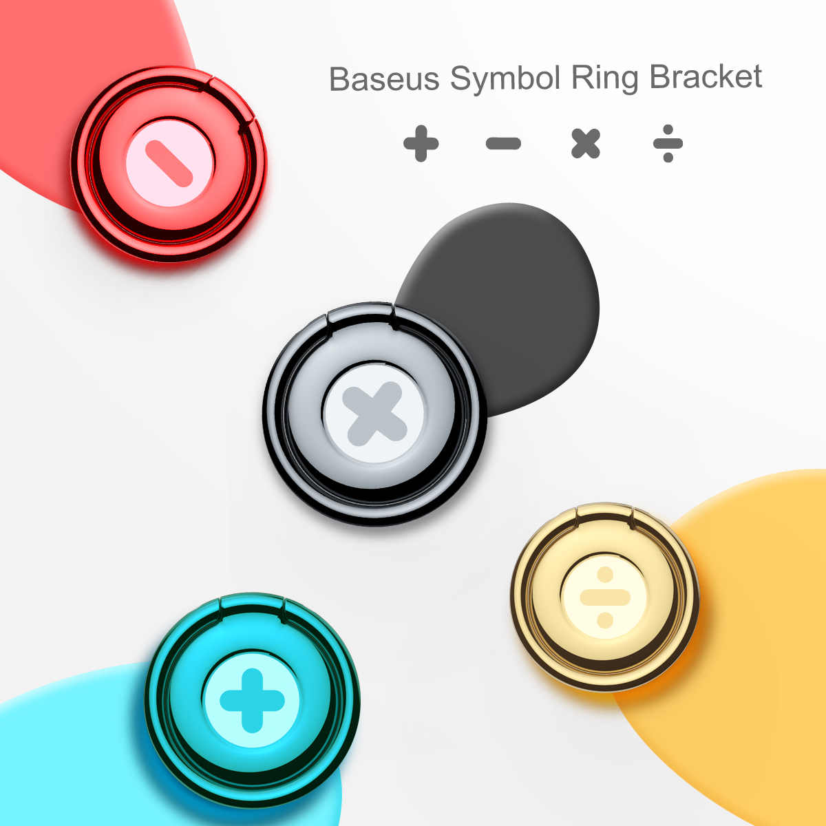 Baseus Universal Symbol Finger Ring Bracket 360 degree Mobile Phone Holder Stand For iPhone 7 6 6s Samsung Xiaomi HTC Huawei in Phone Holders Stands from Cellphones Telecommunications