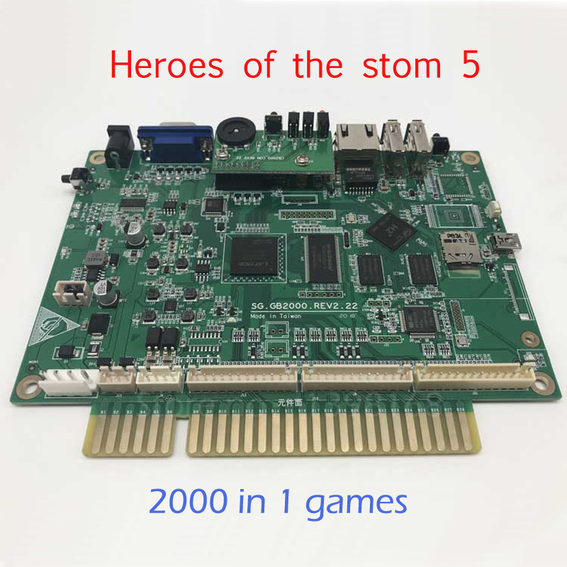 Heroes of the stom 5 Upgraded Version 2000 in 1 games Jamma Multigame PCB board VGA / HDMI output for LED / LCD Arcade Game heroes of the stom 5 upgraded version 2000 in 1 games jamma multigame pcb board vga hdmi output for led lcd arcade game