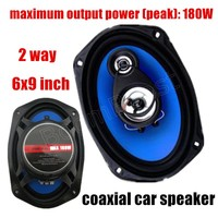 Auto Door Component Speakers 2 Pcs 2 Way 6x9 Inch Coaxial Car Speaker Car Audio Stereo
