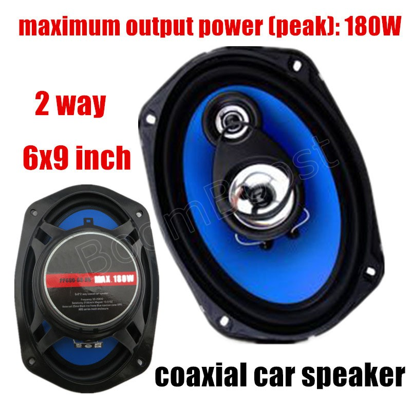 auto door component speakers 2 pcs 2 way 6x9 inch coaxial car speaker car audio stereo speaker 2x180W for all cars quantum alpha series 6 5 inch component speaker