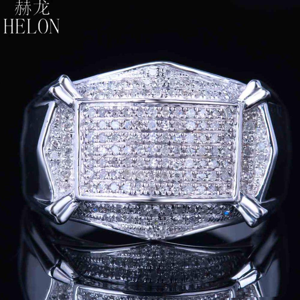 Helon Real Diamonds Mens Ring Sterling Silver 925 Mens