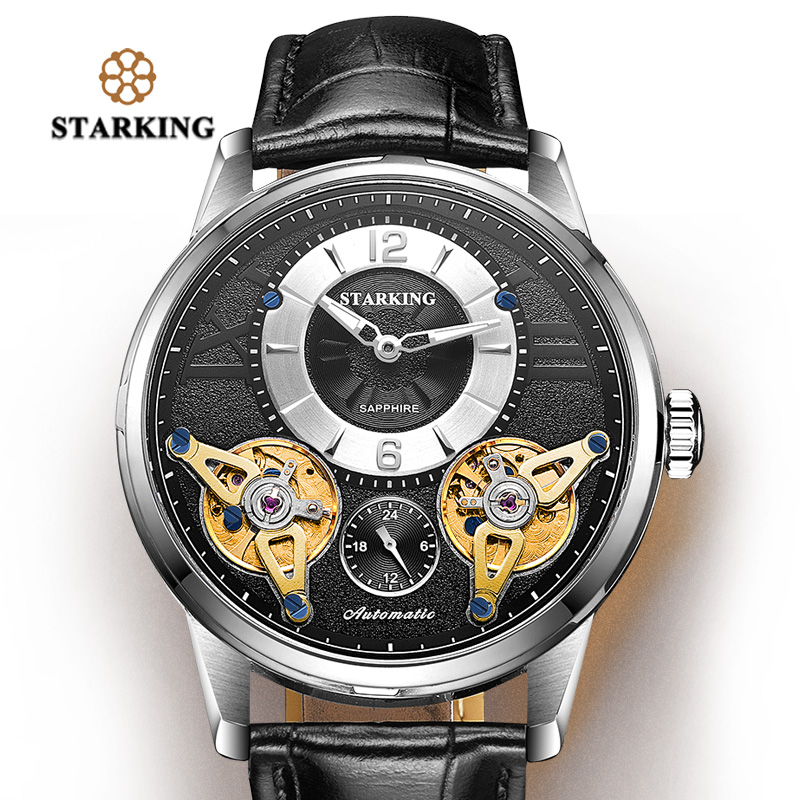 <font><b>STARKING</b></font> Watch Mens Top Brand Luxury Watch Men Mechanical Watch Shockproof 100m Waterproof Business Luminous Wristwatch Hodinky image