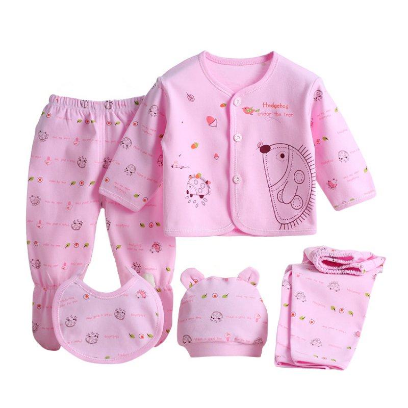 5pcs/set Newborn Baby 0-3M Clothing Set Brand Baby Boy Girl Clothes 100% Cotton Cartoon Underwear