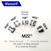WASOURLF outer adapter M22 male thread transfer M16 M19 M21 M22 female connector bathroom kitchen brass faucet accessories