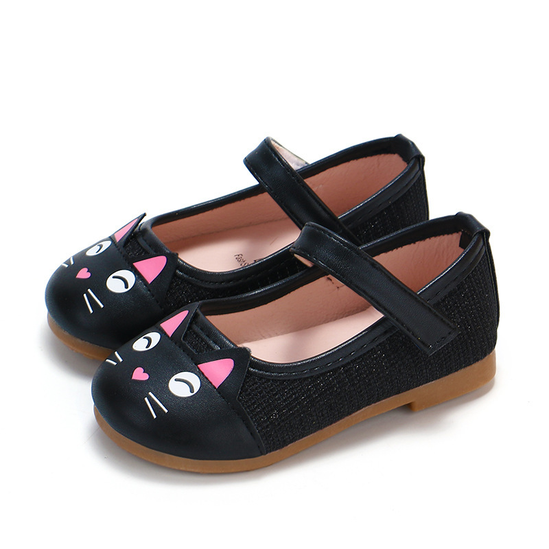 Fashion Cartoon Cat Girls Shoes Cute Sweet Childrens Casual Sneakers Kids Flats kitty Cat Toddler Girl Shoes Black Pink GoldFashion Cartoon Cat Girls Shoes Cute Sweet Childrens Casual Sneakers Kids Flats kitty Cat Toddler Girl Shoes Black Pink Gold