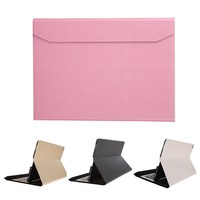 FW1S 2016 New Arrival Slim Aluminum Bluetooth Keyboard PU Leather Case Cover For IPad Pro 12