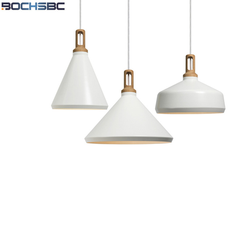 Modern Simple Pendant Lamp Bar Restaurant Hanging Light Living Room Office Kitchen Cafe Bedroom Light Aluminum Shade