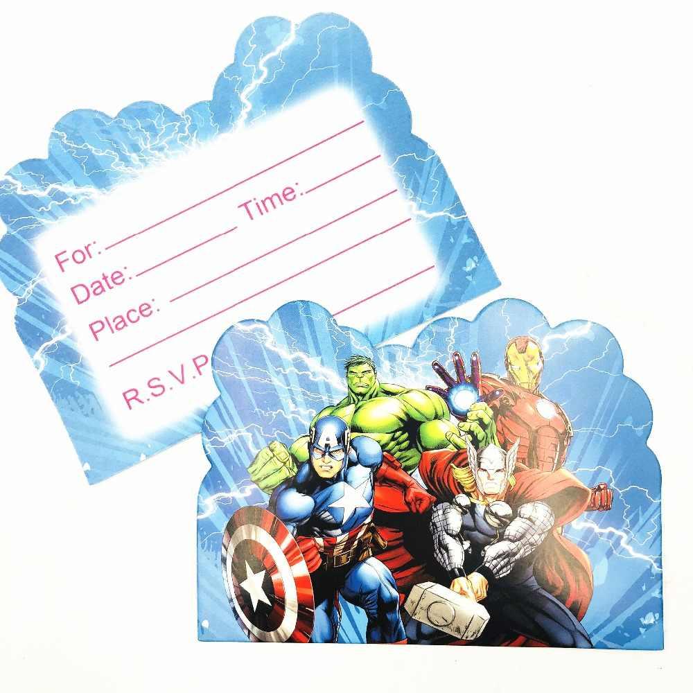 10pcs avengers themed birthday party