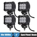 18 w Off Road LEVOU Luz de Trabalho 12 v 24 v Truck Car ATV SUV Boat 4WD 4x4 LED de Condução Auxiliar luz de Nevoeiro para Jeep Hummer H1 H2 H3 H3T