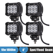 18w Off Road LED Work Light 12v 24v Truck Car ATV SUV Boat 4WD 4×4 LED Auxiliary Driving Fog Lamp for Jeep Hummer H1 H2 H3 H3T