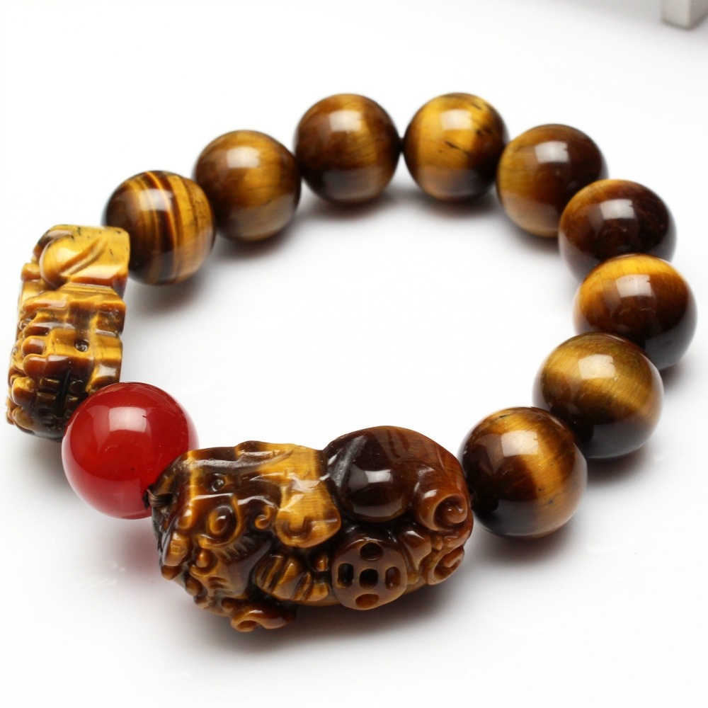 Chinese Fashion Boutique Tigerite Bracelet,Tiger Eye Stone Red Bracelets & Bangles,Unique Braclets for Women Men Jewelry