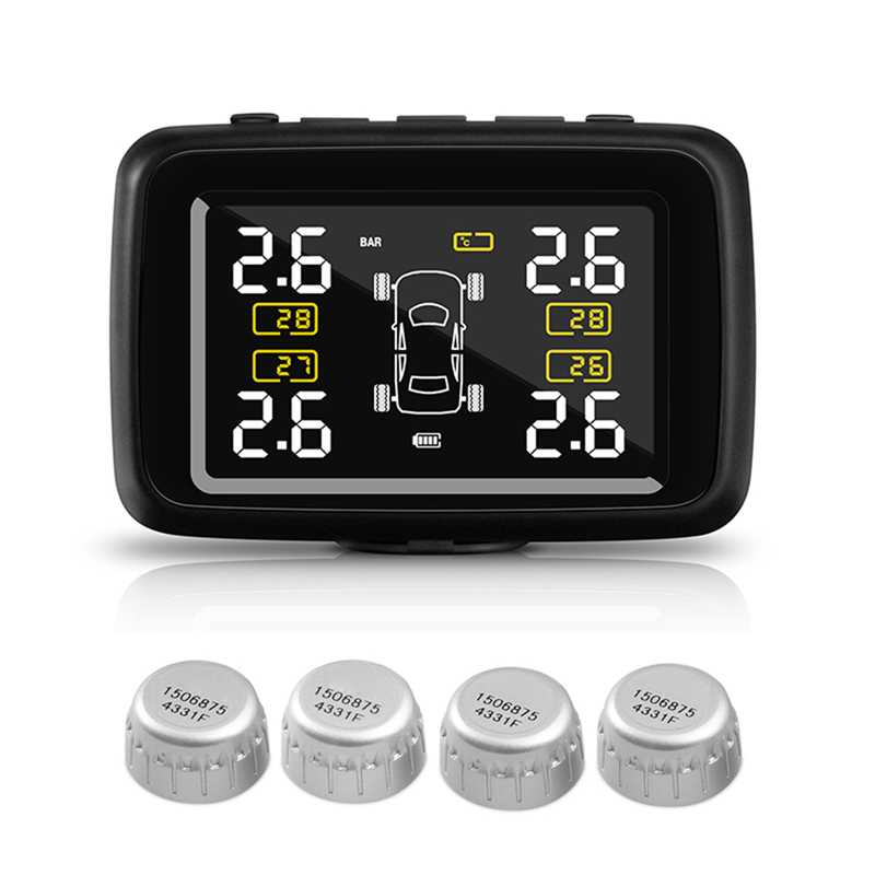 CAREUD U901 Car Wireless TPMS Tire Pressure Monitoring System with 4 External Sensors LCD Display universal car auto tpms tire tyre pressure monitoring system led display with 4 external sensors