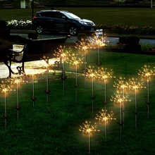 Waterproof Solar Powered 90leds 150leds Copper wire Starburst Firework LED String Light Outdoor Christmas Holiday Decor Lights