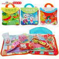 Cloth toy soft sound colorful 3D story book the four seasons animal's home mom baby diary of bear children kid birthday gift 1pc