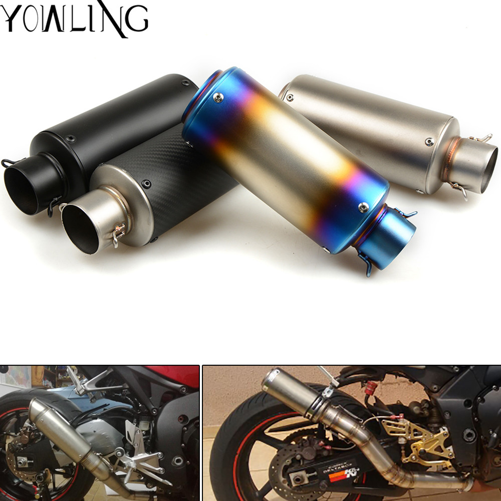 Exhaust Pipe Motorcycle Muffler Escape Carbon Fiber Exhaust Muffler DB KILLER For Kawasaki Z900 ER-N ersys 650 1000 Z800 Z1000