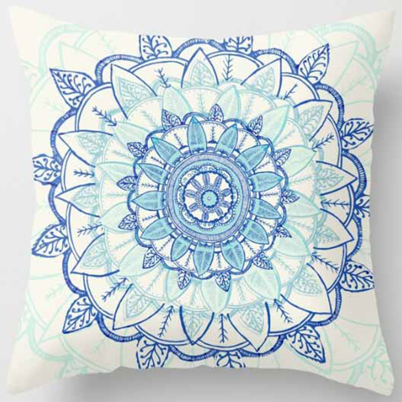 Hot sale many kinds of mandala flowers creative picture Pillow case boys girls weeping pillow cover size 45*45cm