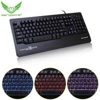ZERODATE X12 3 Colors Glow LED Backlit USB Wired Gaming Keyboard Ergonomic Design