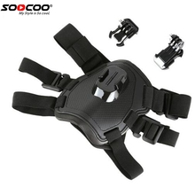SOOCOO Fetch Dog Harness Chest Strap for GoPro Hero 5 3 4 Sessio SJCAM Xiaomi Yi 4K EKEN Go Pro Action Camera Accessory