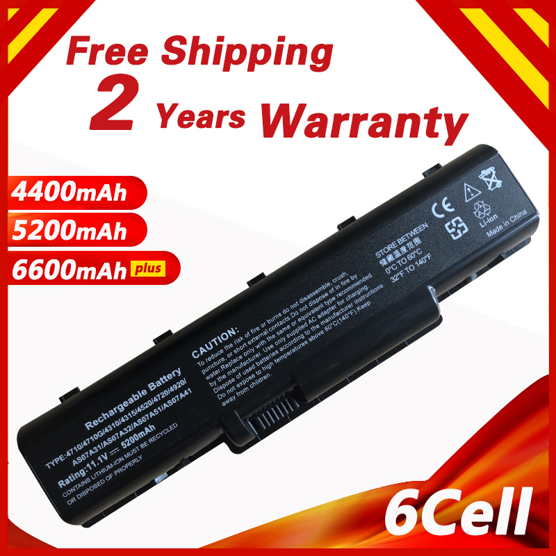 Golooloo battery For Acer Aspire 2930 4530 AS07A31 AS07A32 AS07A41 AS07A42 AS07A51 AS07A52 AS07A71 AS07A72 AS07A75 AS2007A image