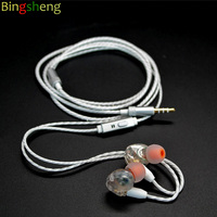 Bingsheng S530 PRO White Color Sport In Ear Earphone Earbuds With Mmcx Cable For Shure Se215
