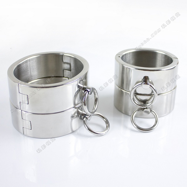 4pcs set stainless steel handcuffs for sex ankle cuffs bondage harness slave bdsm toys handcuffs metal