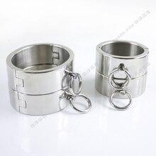 4 шт./компл. наручники из нержавеющей стали для секса манжеты на лодыжку бандаж портупея рабство БДСМ игрушки наручники Металлические Бриллианты для мужчин