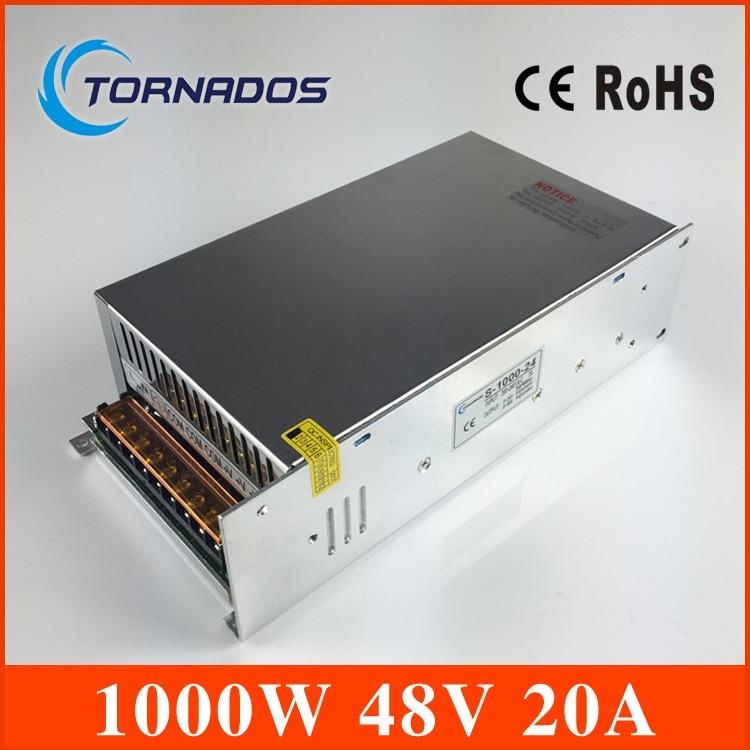 Petit Volume Sortie Unique 1000 W 48 V 20A Alimentation à découpage transformateur AC110V 220 V À DC SMPS pour LED Lumière CNC pas à pas