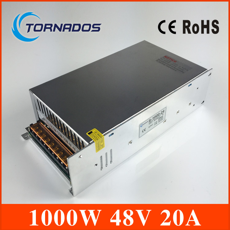Small Volume Single Output 1000W 48V 20A Switching Power Supply Transformer AC110V 220V TO DC SMPS for LED Light CNC Stepper