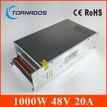 Small Volume Single Output 1000W 48V 20A Switching Power Supply Transformer AC110V 220V TO DC SMPS for LED Light CNC Stepper