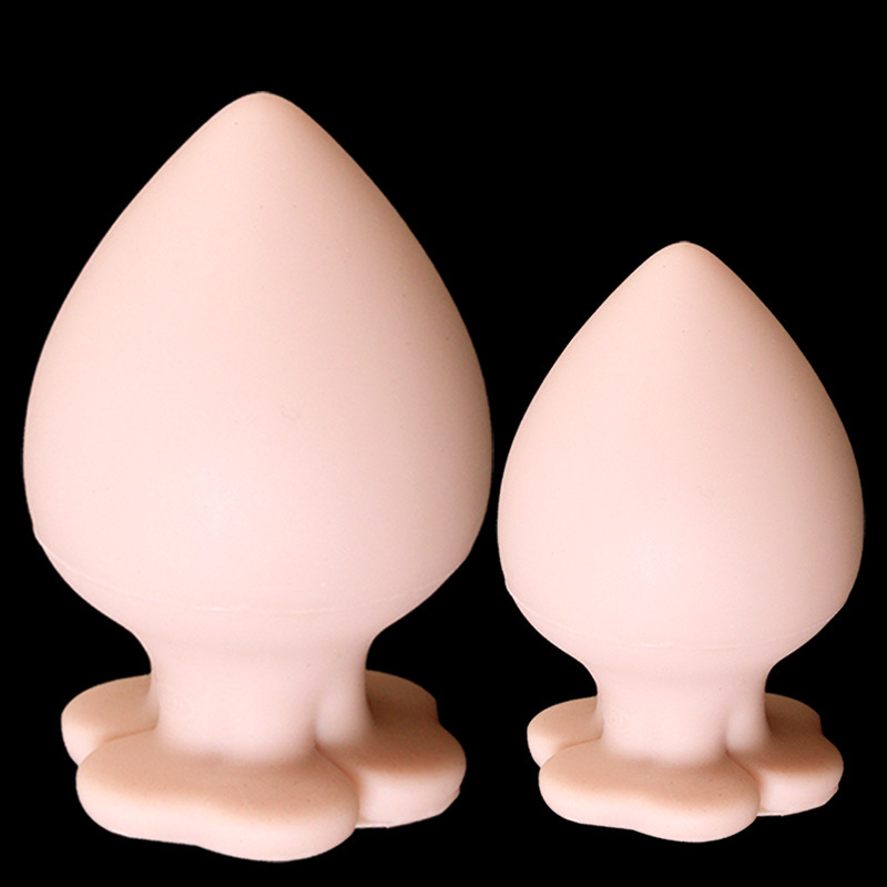 Super Soft Big Anal Plug Butt Plug Silicone Anal Expander Oval Dilatador Anal Plug Prostata Massage Adult Sex Toys For Couples stainless steel heavy type metal butt plug anal speculum g spot dilatador anal expander anal plugs buttplug adult sex toys