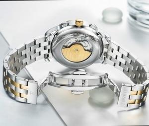 Image 4 - Herren Uhren Automatische Mechanische Uhr TEVISE Mond Phase Wasserdicht Leucht Datum Automatische Uhr Männer Junge Armbanduhren