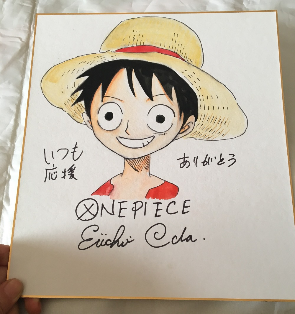 signed  Eiichiro Oda autographed board ONE PIECE J-pop limited version 012019signed  Eiichiro Oda autographed board ONE PIECE J-pop limited version 012019