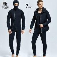 7MM Diving Suit Two Pieces Of Rubber Scuba Diving Suit Waterproof And Warm Diving Suit Men